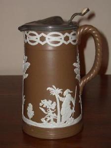 dudson tankard jug with rope handle, transfer printed design, nice ...