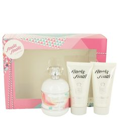 Gift Set includes:   3.4 oz Eau De Toilette Spray   2 - 1.7 oz Body Lotion  Anais Anais L'original Perfume by Cacharel, Elegant and sophisticated, anais anais l'original fragrance for women highlights your classic style and confident personality . Formulated with intense notes of hyacinth and hints of slightly bitter galbanum, this rich scent by cacharel is a great choice for evening wear. Traces of fresh orange blossom, delicate rose and jasmine add sweetness to this harmonious aroma that…