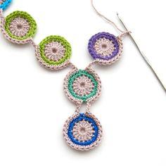 TheCurioCraftsRoom: Free Crochet Pattern: Peacock Eye Necklace