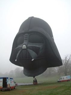 Homemade Darth Vader Hot Air Balloon