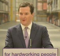 "George Osborne's ""man of the people"" speech."