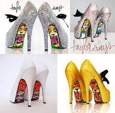 Taylor Says shows Hot High Heels, Sexy Heels, Shoe Boots, Shoes Heels, Pumps, Bling Wedding Shoes, Shoe Refashion, Vip Fashion Australia, Kinds Of Shoes