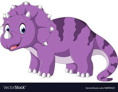 Triceratops cartoon vector image on VectorStock Dinosaur Photo, Dinosaur Art, Cute Dinosaur, Dinosaur Birthday, Dinosaur Wall Decals, Dinosaur Nursery, Eiffel Tower Art, Baby Animal Drawings, Tiger Art