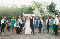 Stefanie + Leigh's Color California Backyard Wedding : Marianne Wilson Photography
