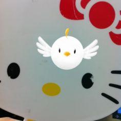 Hanging around with Hello Kitty