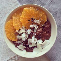 Porridge café & cacao, orange & coco