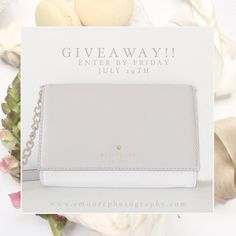 """GIVEAWAY TIME!!  Its time to celebrate the Elizabeth Moore Photography new brand launch coming this Wednesday! I will be announcing the winner of this adorable Kate Spade cross body this Friday July 29th at 9pm est!   Rules :: 1. Anyone can enter! 2. You must follow Elizabeth Moore Photography on Facebook & on Instagram (http://ift.tt/1WIdT3C) 3. You must """"like"""" this post 4. You must tag 5 friends who would want this bag as much as you do!"""