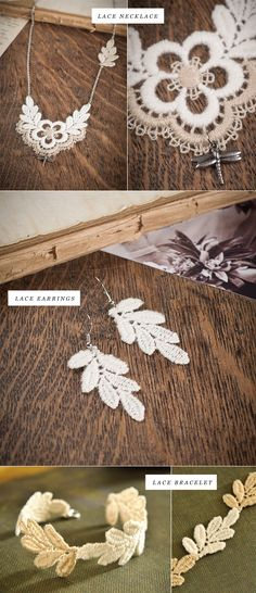 This lace jewelry is so amazing!
