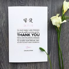 Long or short, the wedding program thank you message is a great way to show your gratitude and appreciation to your guests. Here you'll find some great inspiration for the wording!