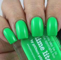 piCture pOlish Lime Lite swatched by Olivia Jade Nails Lime Lite, Jade Nails, Olivia Jade, Picture Polish, Some Times, Swatch, Nail Polish, Neon, Nail Polishes