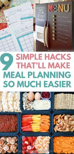 EASY MEAL PLANNING tips to save time, meal plan on a budget. These cooking hacks make weekly planning easy. Free theme night ideas printable ideas, pantry list template for your recipe binder. Monthly Meal Planning, Budget Meal Planning, Meal Planning Printable, Budget Meals, Monthly Menu, Meal Planning With Kids, Kids Meal Plan, Weekly Menu, Meal Planner