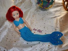 ✿ڿڰۣ✿ Oes - Meine Häkelarbeiten ✿ڿڰۣ✿: Jolina als Arielle die Meerjungfrau mit Schwanzflo...