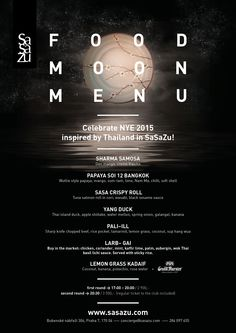Join us for the most special night of the year and let us spoil you with a special menu and program. NYE in SaSaZu!  More information: http://www.sasazu.com/nye2015