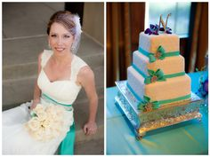 10-wedding-cake-with-teal-ribbon
