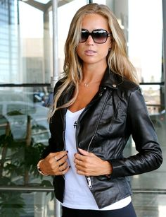 Marie London leather jacket