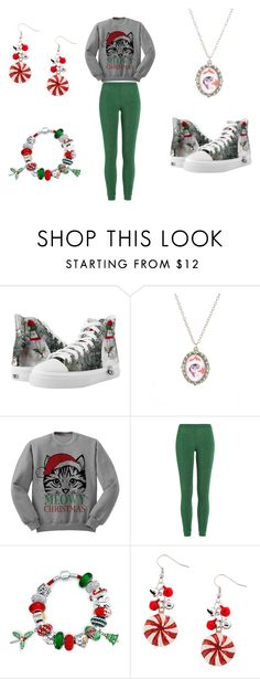 """Meowy Christmas (^. .^)~"" by skyunicorn95 ❤ liked on Polyvore featuring Zipz, Missoni and Bling Jewelry"