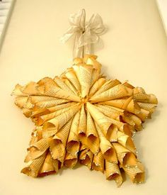 . . . . . How to Recycle: Recycled Christmas Star Decorations