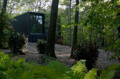 containerwoning in het bos
