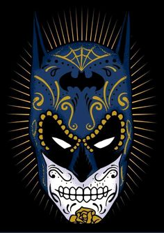 Just in time for this year's Parade, Day of the Dead Batman...  ~~  Houston Foodlovers Book Club