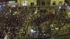 Pochod proti korupcii vo vláde 25.11.2014 Bratislava, letecké zábery