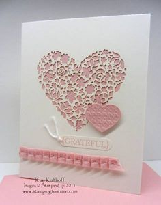 "Love this! ------- I CASED this card for an engagement card, stamping directly on the card just above the ribbon ""so happy for you"""