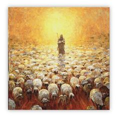 shepherd painting - Google Search  for YW painting class.  something similar to this?  Even more simplified????