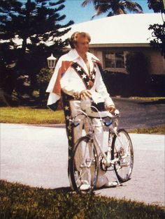 Evil Knievel at my old friend Lani's house. Back in the wayback.