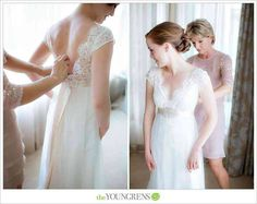 #RealBride Caitlin in the Claire Pettibone 'Queen Anne's Lace' wedding dress photographed by the The Youngrens at The Dress Theory | Click here ---> http://www.clairepettibone.com/bridal/?cp=gowns/queenanne