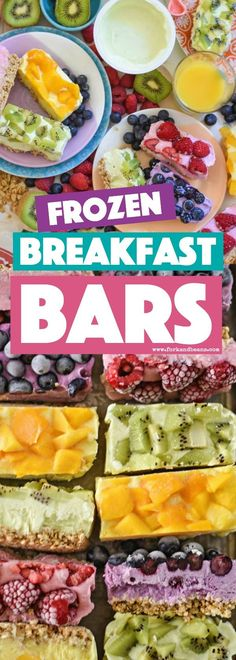 Vibrant, fresh, and healthy, these on-the-go Frozen Breakfast Bars are the busy mom's perfect meal for the road for her and her family.