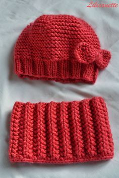 Knit - Beanie and snood child (tail . Lilicanette: Knit - Beanie and snood child (tail .Lilicanette: Knit - Beanie and snood child (tail . Knitting For Kids, Baby Knitting Patterns, Crochet Patterns, Knitting Ideas, Crochet Baby, Knit Crochet, Tricot Baby, Diy Crafts Crochet, Kids Hats