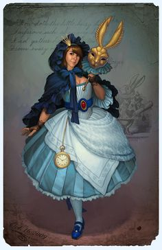 Masquerade Ball - Alice by JessiBeans.deviantart.com on @DeviantArt. #steampunk #victorian #Art #gosstudio  . (Best Gifts online: http://www.zazzle.com/vintagestylestudio)