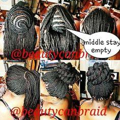 Box Braids Crochet Middle : ... Pinterest Crochet twist, Crochet senegalese twist and Crochet braids