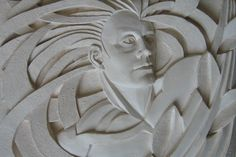 Deep relief ceramic panel Saturn.
