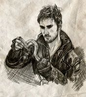 Captain Hook, Once Upon a Time by ~untroubledheart on deviantART