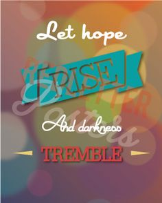 Let Hope Rise Bible Verse Worship Song Lyrics With Everything Retro Vintage Typography Poster 20x30