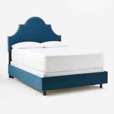 Blue bed with nailhead trip: http://www.stylemepretty.com/living/2015/08/21/23-stylish-beds-headboards-to-guarantee-sweet-dreams/