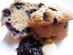 Brunch: Blueberry banana muffins!