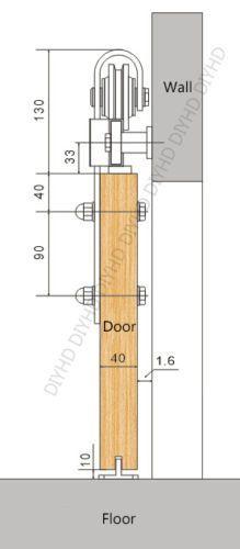10FT-Rustic-Black-Double-Sliding-Barn-Door-Hardware-Arrow-Wheel-Track-kit