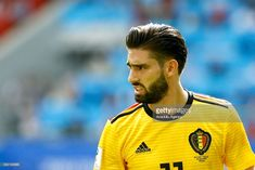 Yannick Carrasco of Belgium in action during the 2018 FIFA World Cup Russia group G match between Belgium and Tunisia at Spartak Stadium on June 23, 2018 in Moscow, Russia.