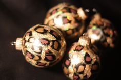 Leopard Print Christmas Ornaments by BeNsTyle on Etsy