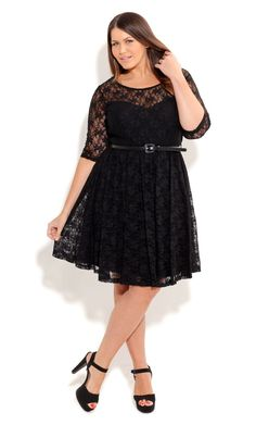 Plus Size Lacey Red Wine Dress - City Chic  LOVE THIS !!!