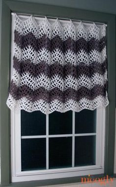 Chevron Curtain Free Crochet Pattern - Moogly