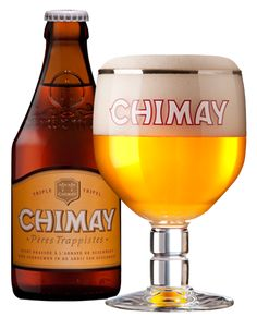 Chimay Triple, Chimay white Beer This is the first craft beer I had. Pizza Grill Camp Hill.