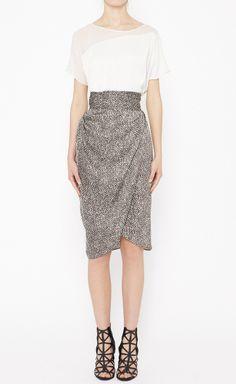 3.1 Phillip Lim Dark Brown And Cream Skirt | VAUNTE