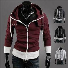 Modern Men Fashion Designer Slim Fit Zip Hoodie | Sneak Outfitters