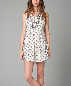 Look at this White & Black Floral Shift Dress on #zulily today!