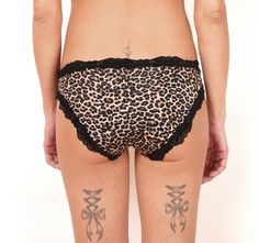 Ocelot print bikini panties Sexy lingerie Black lace Size S M L XL by CocoonUndies on Etsy