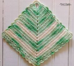 Maggie's personal crochet potholder collection see Maggie's vintage designs here http://www.maggiescrochet.com/collections/crochet/vintage-crochet-patterns #potholder #vintage #maggieweldon #crochetpattern #kitchen