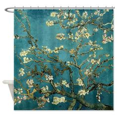 Van Gogh Almond Branches In Bloom Shower Curtain on CafePress.com