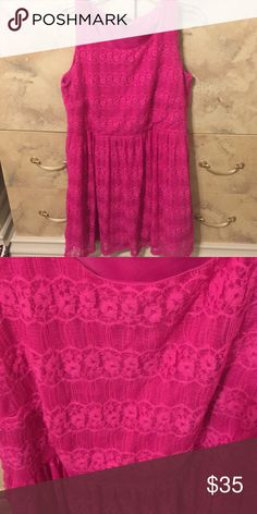 Pink flower dress Pink dress with flowers on it worn once. Reasonable offers considered😊 Dresses